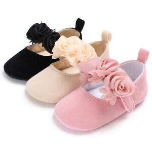Baby-Newborn-Toddler-Girl-Soft-Crib-Shoes-Pram-Prewalker-Anti-slip-Sneakers-AU