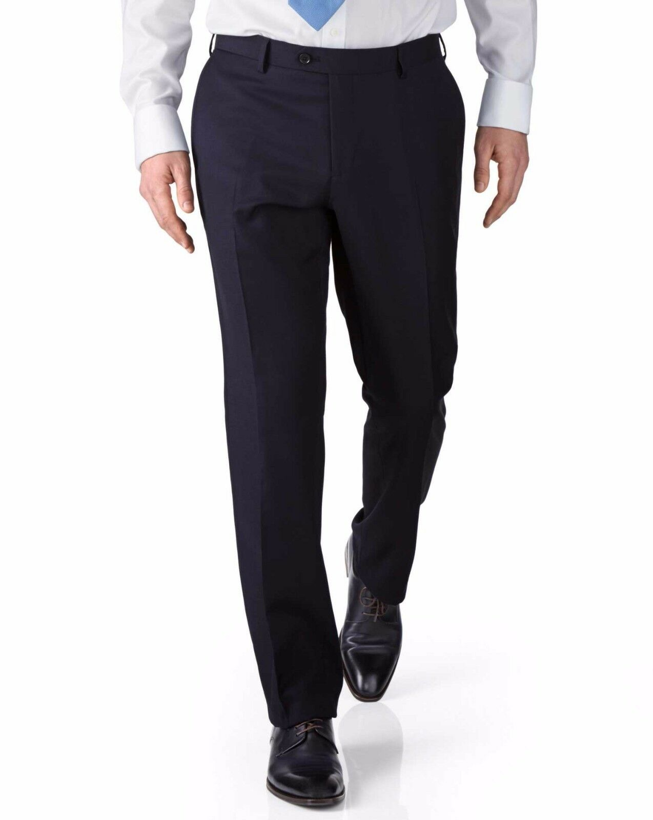 Charles Tyrwhitt Navy Slim Fit Twill Geschäft Suit Trousers W30 L32 TD171 TT 04