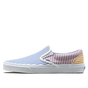 36068e32c65b6b New Vans Classic Slip-On Deck Club Mix Stripes Men Women Unisex ...