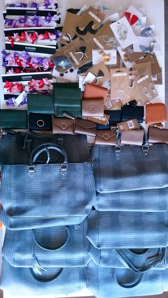 Lot / Palette 126 X Sac , Portefeuille , Bijoux Revendeurs Destockage