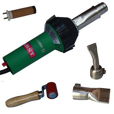 1600W Plastic Welders Hot Air Gun Vinyl Welding Heat Gun+roller+40mm flat nozzle