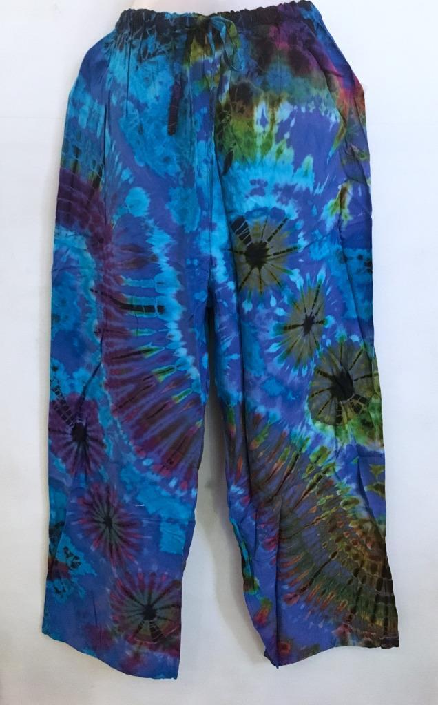 Hippie Bohemian Gypsy FUNKY Festival Thai Mudmee Drawstring Yoga Pants B