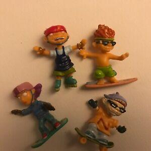 Nickelodeon-Rocket-Power-Mini-Plastic-Figures-Lot-2-Skateboard-Snowboard