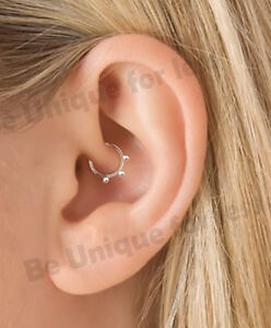 Details About Ik Do Thi Daith Sterling Silver Ring Helix Cartilage Tragus Piercing Hoop