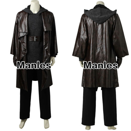 Star Wars The Last Jedi Cosplay Luke Skywalker Costume Halloween Men Outfits