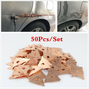 50X Copper coated Stainless steel Triangle Washer For Spot Welding 10mm Hole Dia