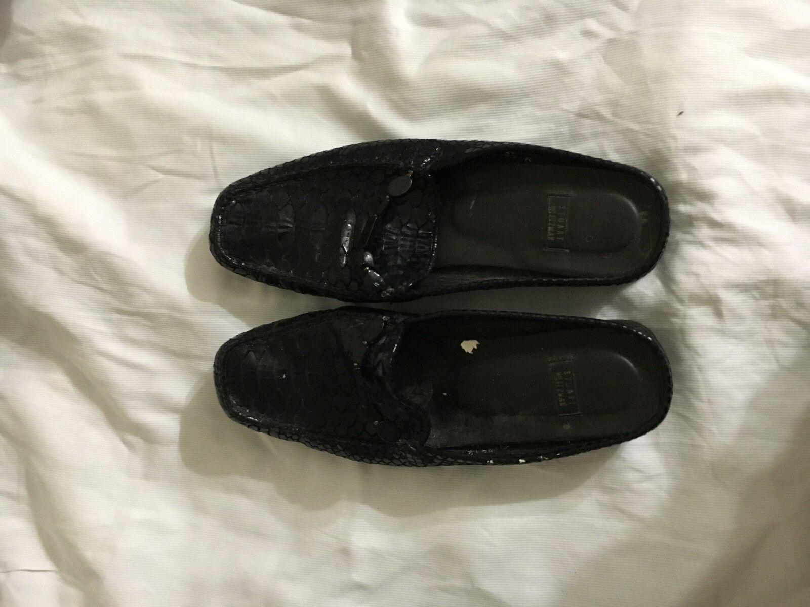 Stuart Weitzman Negro Patente Patente Patente tamaño del zapato 81 2 B  nuevo sádico