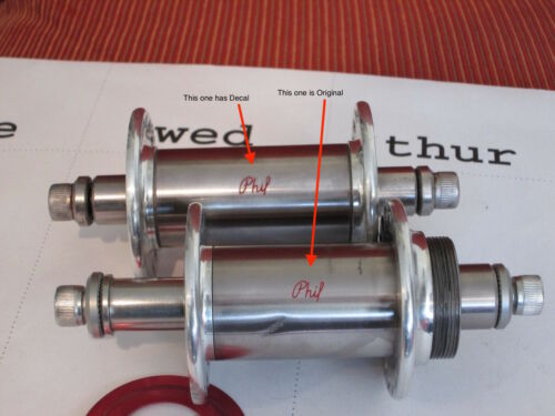 pair PHIL WOOD HUB Decals, correct size RUB ON STYLE