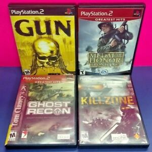 Killzone-Medal-of-Honor-Gun-Ghost-Recon-PS2-Playstation-2-COMPLETE-Game-Lot