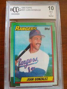 1990 Topps #331 Juan Gonzalez RC RANGERS. Graded 10 Mint.
