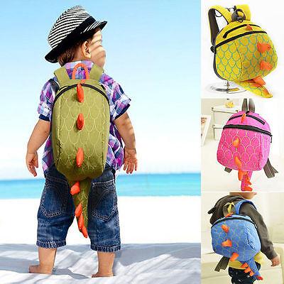 Toddler Kids Child Pink Dinosaur Backpack Schoolbag Shoulder Bag Satchel