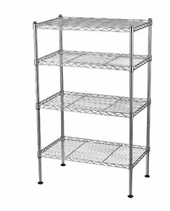 s l300 chrome wire shelf 8 on chrome wire shelf