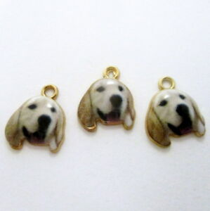 3-Labrador-Dog-Enamel-Gold-Tone-Charms-18x14-Dog-Charms-Jewelry-Supplies-g1521