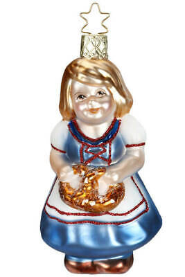 Inge Glas Hilde With Pretzel 10153s018 German Glass Ornament New W Free Gift Box Ebay