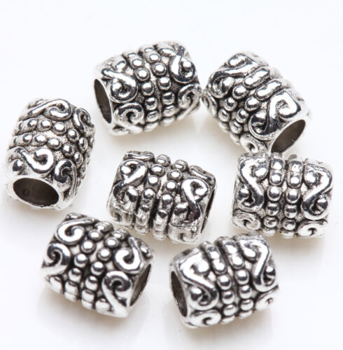 50//100 Pcs Tibet Silver Plated Loose Spacer Beads Charms Jewelry Making DIY New