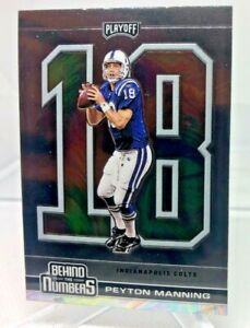 Peyton Manning 2020 Panini Playoff Insert Behind The Numbers Card #BTN-5 COLTS