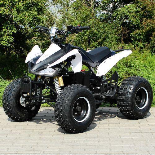 E-QUAD 1000W S-14 Speedy schwarz-weiß Elektro Quad ATV Kinderquad Elektroquad
