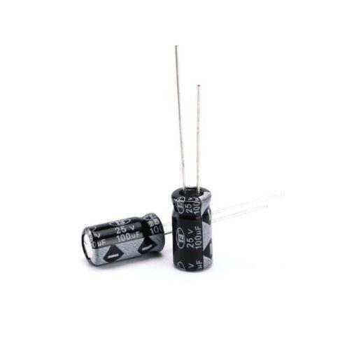 30Stks 100UF 25V Radial Electrolytic Capacitor The general size NEU