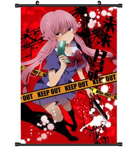 3750 Anime Future Diary Mirai Nikki Gasai Yuno wall Poster Scroll A