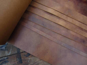 132cm-Sella-Lunga-Look-invecchiato-Tan-3-5mm-Cinturino-in-Pelle-Cuoio-spessori-diversi