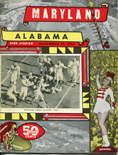 1953 Maryland Terps v Alabama CrimsonTide Football Program Bart Starr  Ex