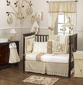 coCalo-Baby-Bedding-Crib-Cot-Bumpers-Sheet-Curtain-Set-5-Piece-Caramel-Kisses