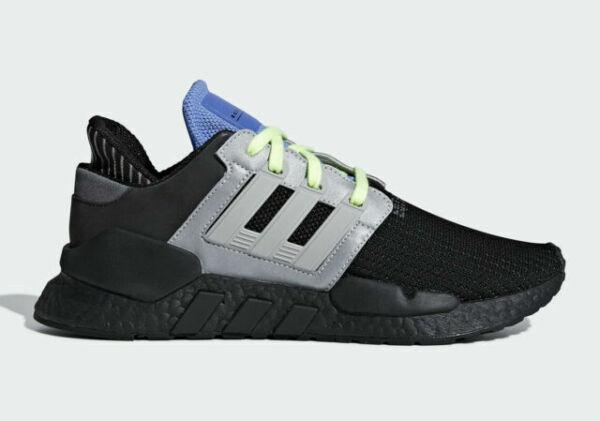 Size 8.5 - adidas EQT Support 91/18 Primeknit Black Grey 2019 for ...