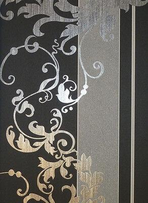 Myself Vlies-Tapete Ornamente schwarz-grau 6858-15 Glimmer (2.92 Euro pro m²)