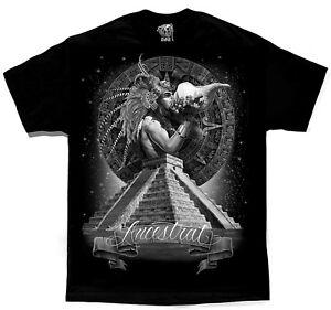 Ancestral-Aztec-Warrior-Mayan-Calendar-Chicano-Art-by-David-Gonzales-DGA-T-Shirt