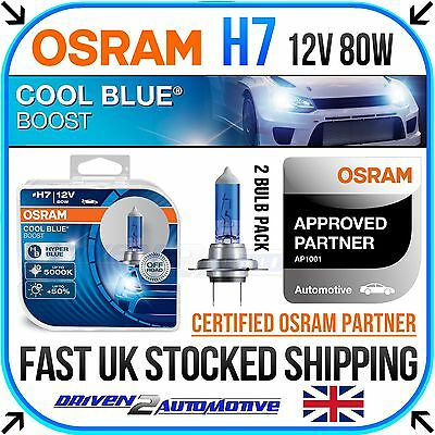 2x OSRAM H7 COOL BLUE BOOST 12v 80w XENON HID LOOK BULBS 5000K