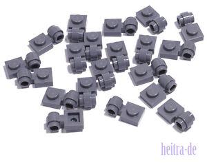 LEGO-20-x-Platte-dunkelgrau-1x1-mit-Ring-Ose-4081b-NEUWARE-L04