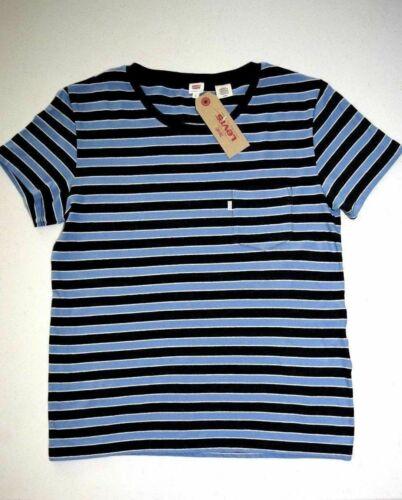 BLUE Women/'s LEVI/'S Short Sleeve T-Shirt Striped