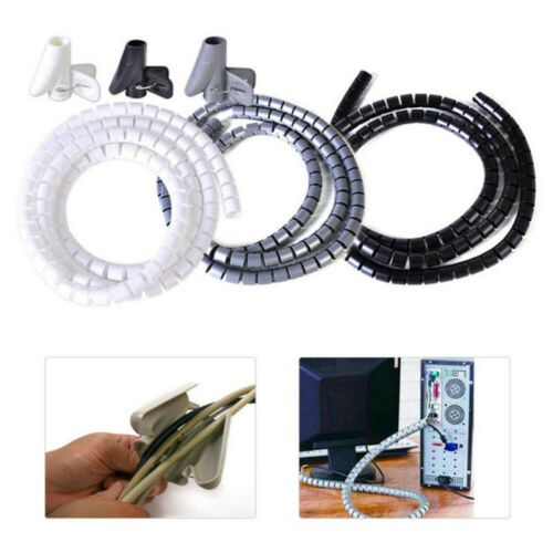Management  Cord Protector Wire Organizer Flexible Spiral Tube Cable Holder