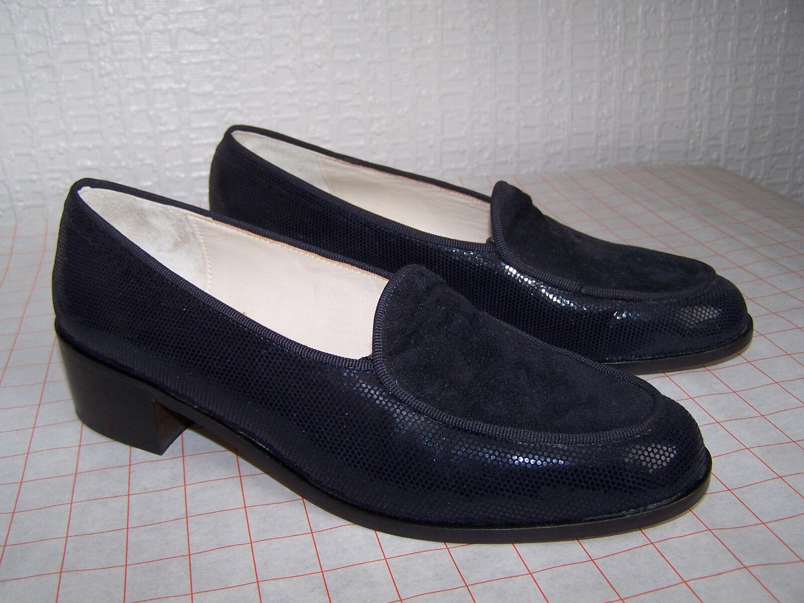 Florentine Navy Blau Leather Flat Heel schuhe (Größe 4.5 UK, NEW)
