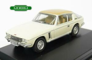 BNIB-OO-GAUGE-OXFORD-1-76-76JI007-JENSEN-INTERCEPTOR-OLD-ENGLISH-WHITE-amp-TAN-CAR