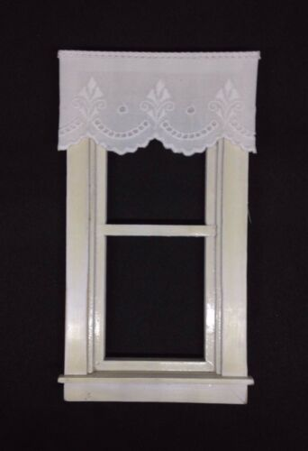 "Dollhouse Curtains Shade White Fleur de Lis  3/"" W by 1 1//2/"" L"