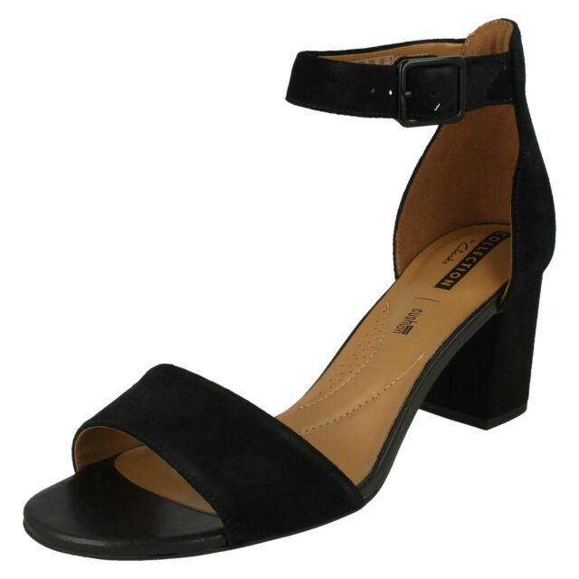 769f17a29766 Women s Clarks Deva Mae Strap High HEELS in Black UK 6   EU 39 1 2 ...