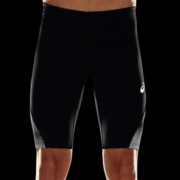 Asics Men's Running Shorts Sprinter Lite Show Reflective Shorts - Black - New