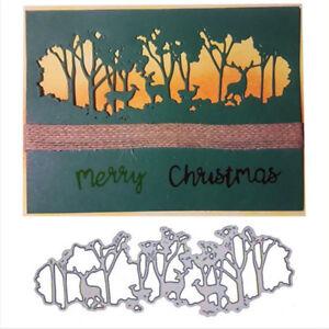 Image Is Loading Forest Deer Metal Cutting Dies Stencil Scrapbooking Embossing