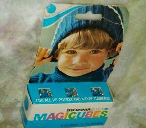 Sylvania Blue Dot Magicubes 3 Cubes 12 Flashes 110 pocket x-type