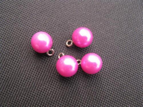 4 Kunststoffperlen m Öse pink 10mm 11151