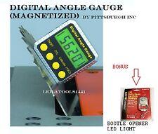PITTSBURGH - Digital Bevel Box Inclinometer Angle Gauge Meter !BRAND NEW! Magnet