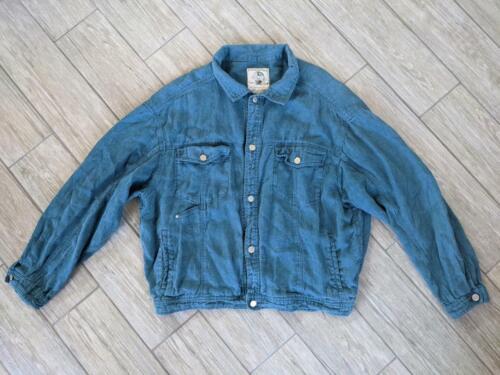 1980s vintage BANANA REPUBLIC jean jacket LINEN sa
