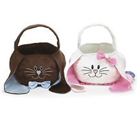 Easter Basket Bunny Face Tote W/ Free Personalization - 2 Styles Available