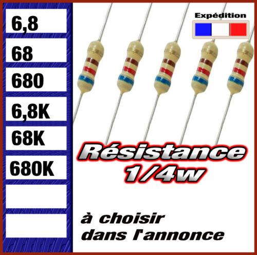 0,25w 6,8 # 68 # 680 # 6k8 # 68K # 680K  ohms résistance 1//4w
