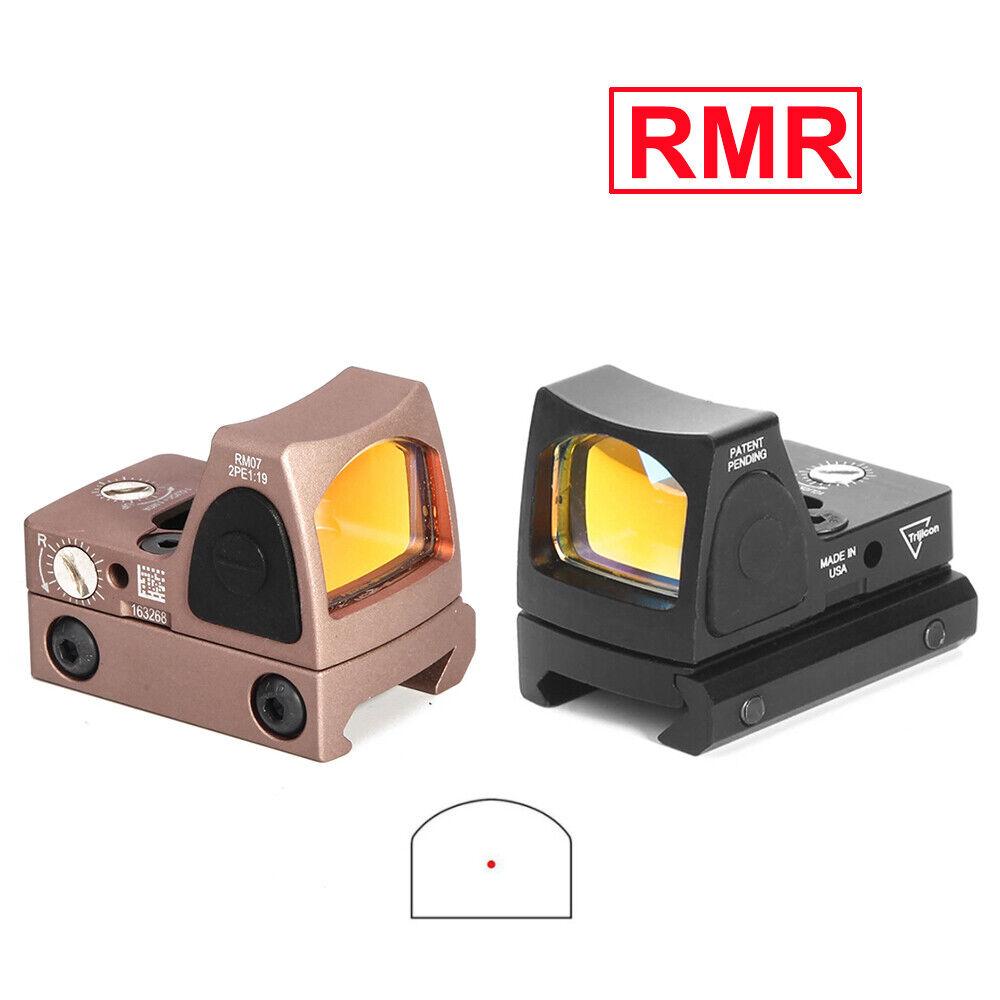 RMR Red Dot Sight 3.25 MOA Pistol Rifle Scope Adjustable Brightness with Mount