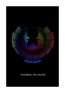 Details about Frank Wilson - Do I Love You - Sound Wave Vector Art Print -  A4 Size