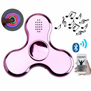 Plated-LED-Bluetooth-Hand-Spinner-EDC-Focus-Gyro-Toy-ADD-ADHD-Stress-Reduce-Gift