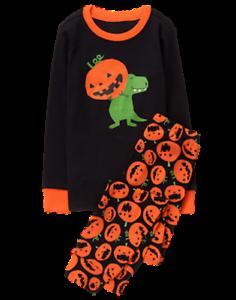 NWT GYMBOREE BOY GYMMIES Dinosaur Skeleton PAJAMA SZ 10 Halloween