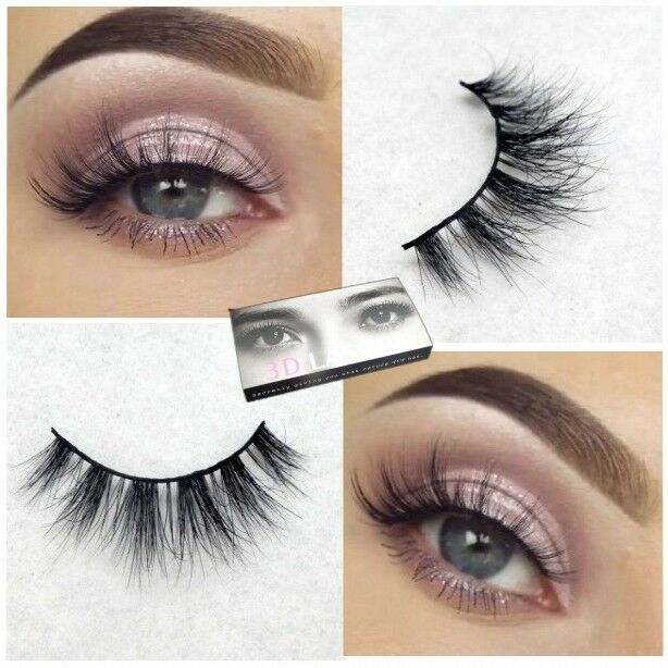3D Soft Design 100% Real Mink Black False Eyelashes Cross Messy Eye Lashes 1Pair